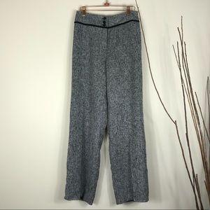 3/$15 APRIL CORNELL Black Gray Tweed Dress Slacks